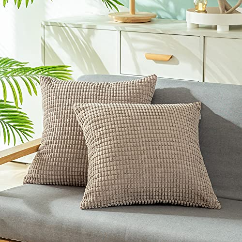 CaliTime Comfy Throw Pillow Covers for Couch Sofa