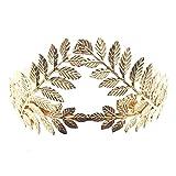 Joyería hecha a mano para novia, accesorios para el pelo, corona de laurel, tiara para niñas y mujeres, diadema de boda retro (dorado)