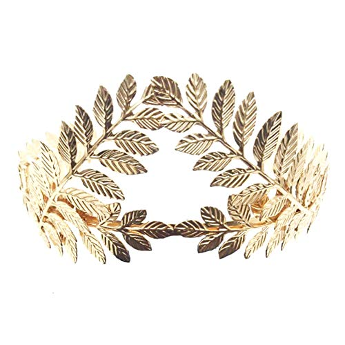 Tiara para el pelo hecha a mano, accesorio para novia, corona de laurel, diadema de boda retro para niñas y mujeres, dorado, Tamaño libre