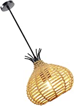 SOLUSTRE Rustieke Geweven Hanglamp Henneptouw Rotan Hanger Verlichting Armatuur Industriële Metalen Opknoping Licht Voor ...