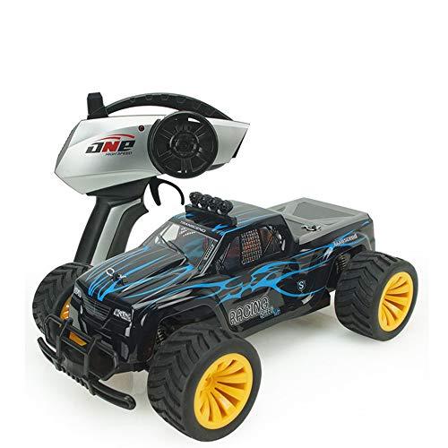 RC Voiture 1:16 4WD Haute Vitesse Off Road Voiture Télécommandée 20Km / H 2.4 Ghz Tout Terrain Contrôlée Radio De Course Monster Truck 500Mah Batterie Li-Po Jouets Cadeau,Blue