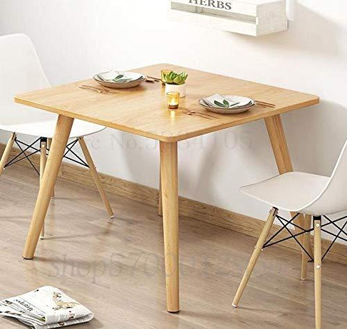 LJQLXJ Tavolo da Pranzo Tavolo da Pranzo Piccola Famiglia Moderna Tavolo da Pranzo Quadrato Semplice e Combinazione di sedie Sala da Pranzo Tavolino da Pranzo, 80x80x75cm2