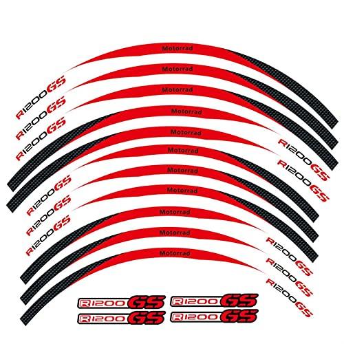 Nueva Calidad 12 PCS Pegatina de Rueda de la Rueda de la Motocicleta Raya Reflectante para BMW R1200GS (Color : 4)