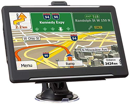 GPS Navigation for Car Vehicle, Navigator System 7 Inch LCD Touch Screen 8GB Lifetime Map Update Direct Access, Driver Alerts