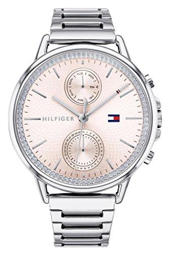 Tommy Hilfiger Reloj Multiesfera para Mujer de Cuarzo con Correa en Acero Inoxidable 1781917