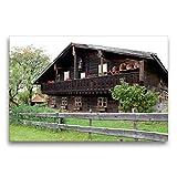 Calvendo Premium Lienzo de 75 cm x 50 cm, Horizontal, histórica casa de Campesinos de Madera en el Bosque bávaro, Baviera, Alemania, Europa, Imagen en el Bosque bávaro Natural