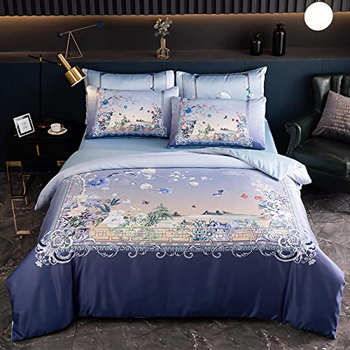 Juegos De SáBanas De 90,Ropa de cama de seda, refrescante fresco suave anti-faded resistente al sudor antiestático es una cama de manga de una sola funda de almohada, regalo de cumpleaños casado-C_1,