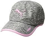 PUMA Women's Evercat Running Cap, Grey/Pink, OS