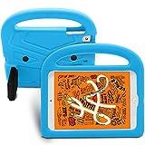 MiusiCase Niños Funda Shockproof para iPad Mini 5 (2019) / iPad Mini 4 / Mini 3 / Mini 2 / Mini 7.9 Inch - Resistente de Golpe Cover con Soporte e Maneja para Mini iPad.(Blue)
