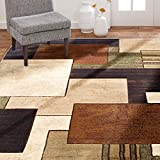 Home Dynamix Tribeca Mason Area Rug 5'2'x7'2', Abstract Brown/Green