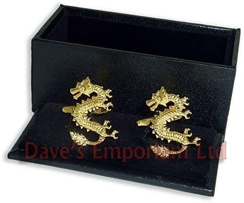 Golden Chance chinois dragon BOUTONS DE MANCHETTE (xaj181)