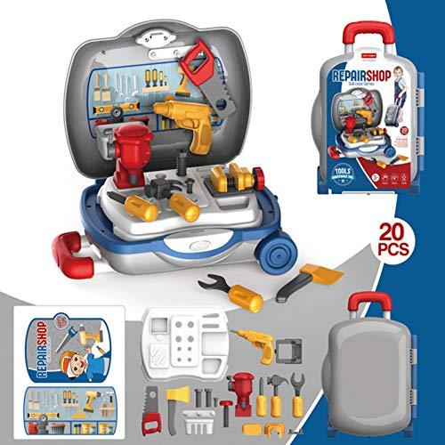 Maril Caja de herramientas herramientas de reparación de simulación del bebé taladro eléctrico destornillador reparación casera de carro de juguete para el hogar best service