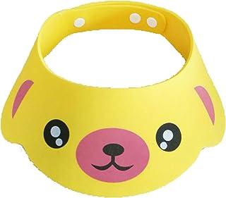 LuDa Adjustable Baby Kids Toddler Infants Shampoo Cap Bath Shower Visor Caps - Yellow, 40-55cm