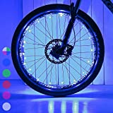DAWAY Led Bike Tire Lights - A01 Fun Bicycle Spoke or Frame Safety String Lights (1 Tire, Blue), Light Up Wheel for Teen, Children, Dad, Brother, Uncle, Best Wheelchair Accessory