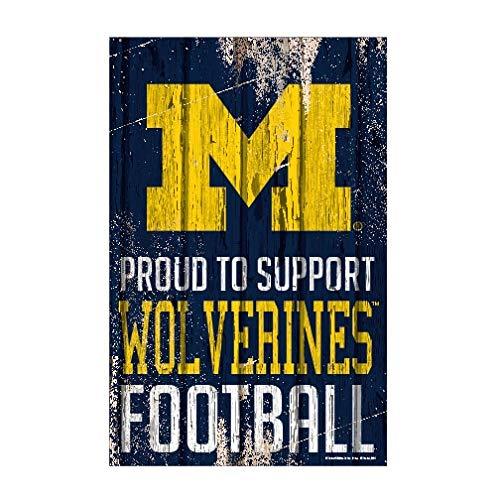 NCAA Michigan Wolverines Sports Fan Home Decor, Team Color, 11x17