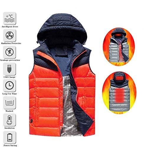 Can Wash Elektrische verwarmingskleding, voor mannen en vrouwen, USB-aangedreven verwarmingskleding, winterwarm vest, motorfiets-skimaat M-5XL)