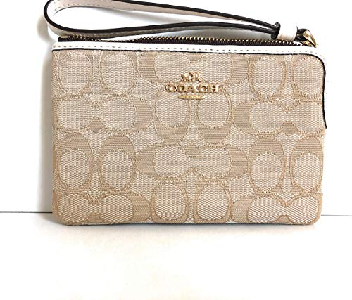Genuine Coach Wristlet Clutch Purse.Light Khaki/Chalk for sale  Delivered anywhere in Canada