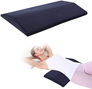 Lumbar Support Pillow for Sleeping,Memory Foam Lumbar Sleeping Bed Pillow for Lower Back Pain,Hip,Knee,Sciatica,Pregnancy Support Pillow for Side&Bed Sleeper with Washable Cover