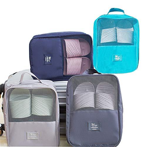 YUSDP 4PCS Portable Travel Schuhbeutel, Sport Sack Organizer, Verpackung Cubes Set, Trocken und Nass Separation Design, hochwertige Nylon Mesh Material, Outdoor Essential