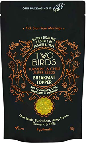 Two Birds Super Seeds Breakfast Toppers Highly Nutritious Loaded with Vitamins, Antioxidants & Omega 3 (Turmeric & Chilli Seeds)