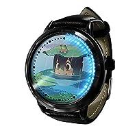 僕のヒーローアカデミア LED ウォッチコスプレアニメファッションカジュアルレザーウォッチ人気のベルト耐久性ウォッチウ 3D 防水ユニセックスギフトウォッチ