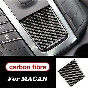 Decorazione Interna Modanatura del Pannello di Controllo Centrale in Fibra di Carbonio Gear Panel della Decalcomania degli Autoadesivi Accessori for Porsche Decorazione Auto