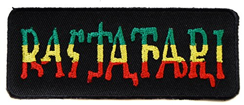 ecusson Rastafari Rasta Jamaique Reggae thermocollant 10x4cm patche Badge