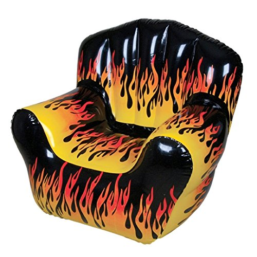 Flame Print Chair Inflate