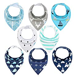 Soft Organic and Absorbent Material - Front is 100% soft organic cotton, back is polyester fleece for absorbency. Protect & keep your drooly teething baby dry from all dribble and spit ups, with the dual layer function dribble bibs you don't have to ...