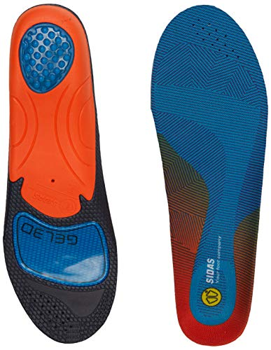 Sidas 3D Gel Cushioning Insole, Anatomical 3D Shape, unisex_adult, CSEESCUSH3D, blue, XL:44-45