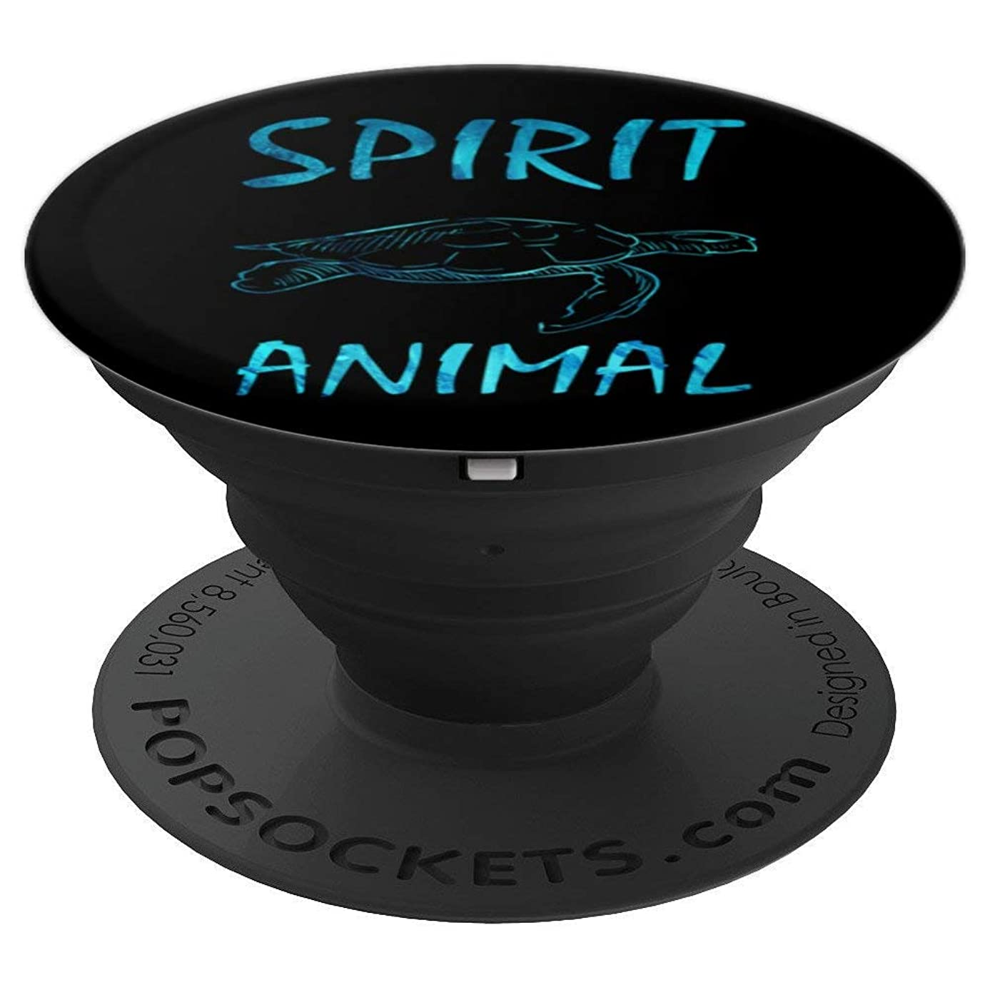Spirit Animal Turtle ice blue holder for boys girls men - PopSockets Grip and Stand for Phones and Tablets