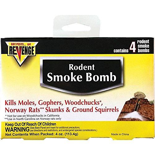 Revenge Rodent Smoke Bombs (8-pack) Kills Rats Moles Skunks Gophers Woodchucks Not Sale To: CA, AK