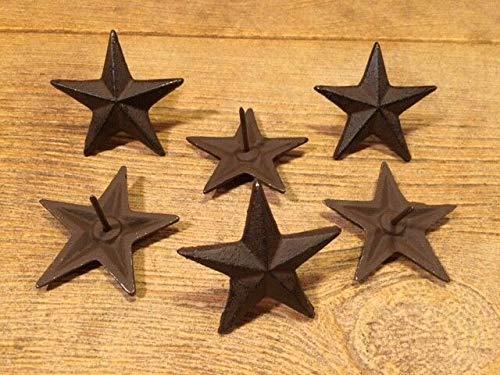 Cast Iron Texas Star Nails Medium 2 3/4' (Case of 6) Craft Decor 0170-02112