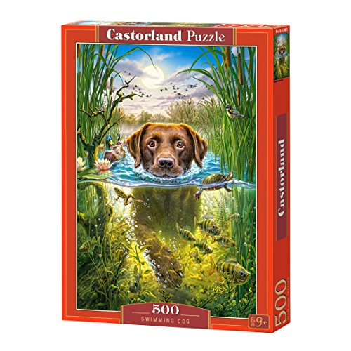 Castorland Puzzle Swimming Dog 500 Pieces