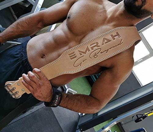EMRAH Cinturón de Levantamiento de Pesas Pure Genuine Leather para Hombres y...