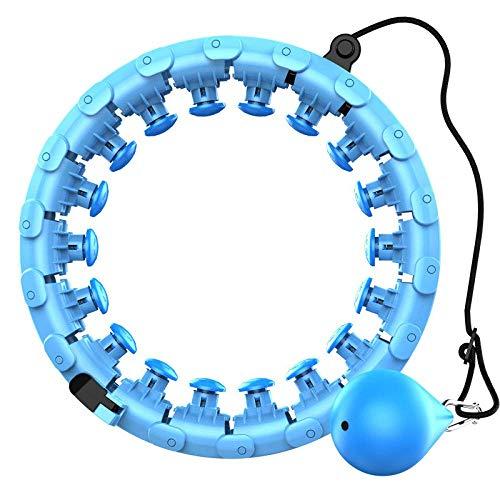 Hula Hoop desmontable de 360 grados, anillo de masaje para adelgazar, fitness holahup, abdomen fino, hulahoop para adultos, fitness (bola de precisión), color azul