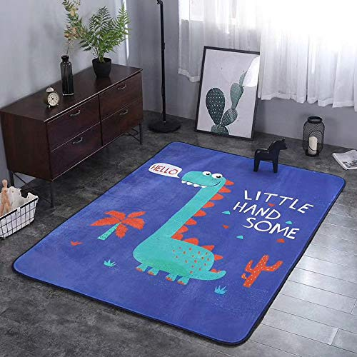 Why Should You Buy Fancy Dinosaur Pattern Cartoon Baby Play Mats Kids Crawling Rugs Safe and Soft Co...