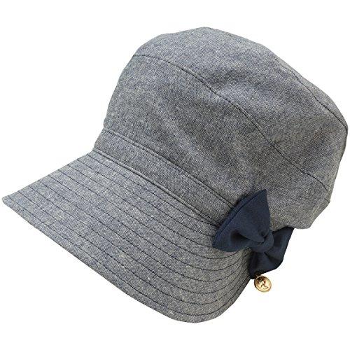 林八百吉 Yaokichi 帽子 小顔美人ショートジョッキー レディス ネイビー フリー