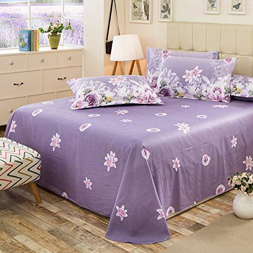 1 unid 100% algodón Hoja Plana para niños Adulto Individual Cama de Rayas de Doble Colorido de Doble Color-1_1pc Hoja 200x230cm