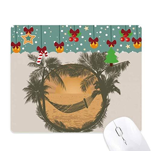 cocotier cloud hamac beach tapis de souris en jeu - office mat noël