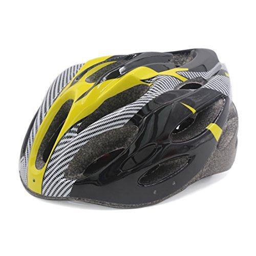 DealMux Unisex Montaña Ruta para Bicicleta Casco de 56cm-63cm Negro Amarillo
