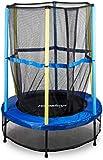 Relaxdays Trampolin Kinder, Sicherheitsnetz, Bungeefederung, Outdoor HxBxT: 172 x 143 x 143 cm,...