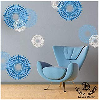 Kayra Decor Reusable DIY Wall Stencil Painting (Plastic Sheet, Multicolour, 16 x 24 inch)