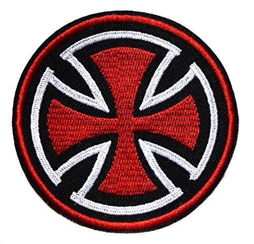 ecusson templier Chevalier Croix Rouge catholique 7,5 cm chretien Malte Biker