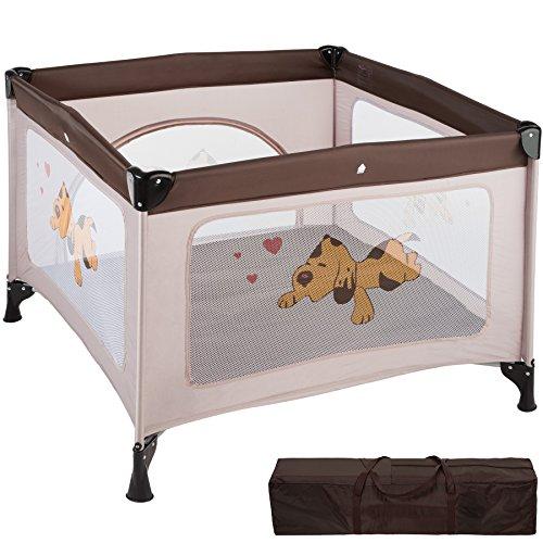TecTake Parque para bebé Cuna Infantil de Viaje portátil (Marrón Café | No. 402207)