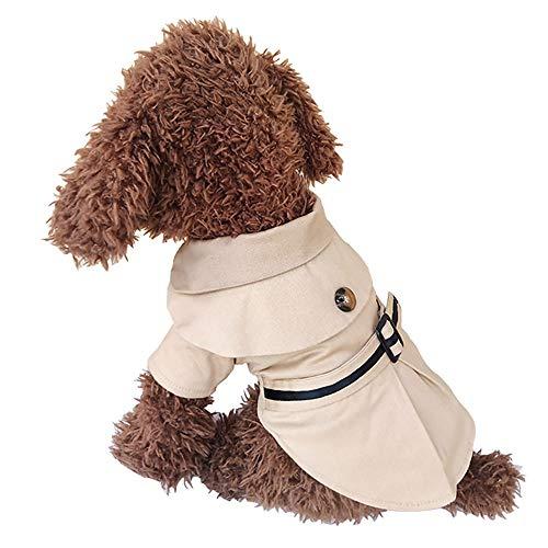 JDXRG Dog windjack - huisdierjas, katoen + fleece productie/zwart blauw beige/XS-XL/mode herfst en winter pet kleding, geschikt voor kleine dieren
