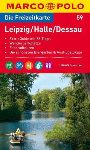 MARCO POLO Freizeitkarte Leipzig, Halle, Dessau 1:100.000