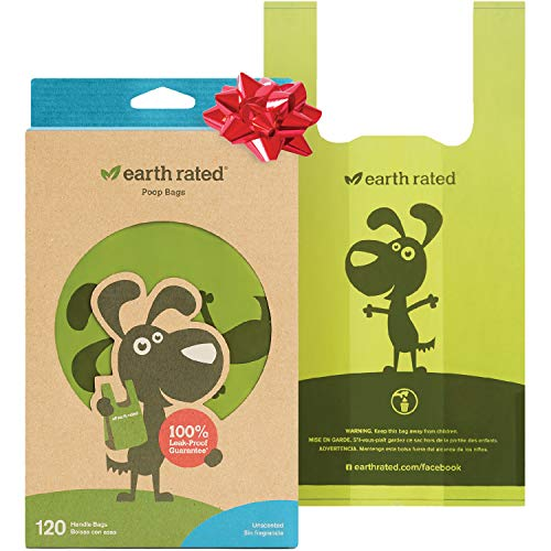 Earth Rated Dog Poo Bags, 120 Extra Thick and Strong Dog...