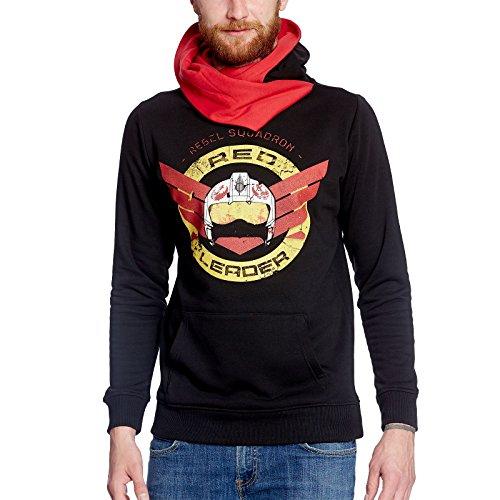 Star Wars Rogue One Hoodie Red Leader Pullover mit Kapuze Elbenwald schwarz - XL