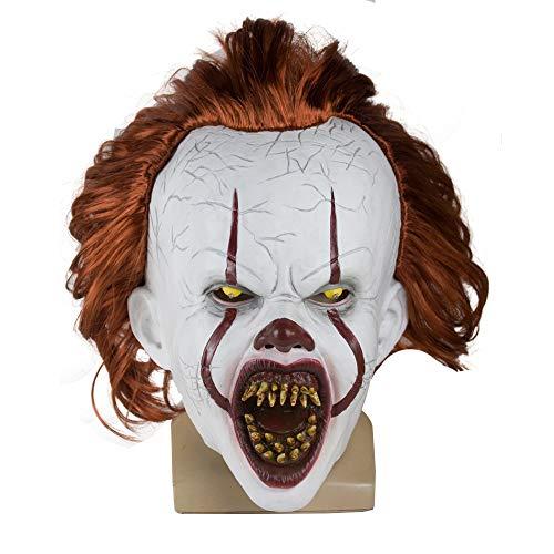 LED-Horror Latex Maske Clown Halloween Blutige Partei-Kostüm Requisiten Maske,2